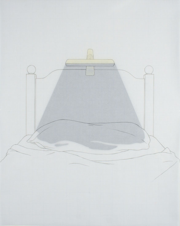 Dark Light (Clamp Model), 2007, graphite, vellum, paper, acetate, 16 x 20 inches / 41 x 51 cm