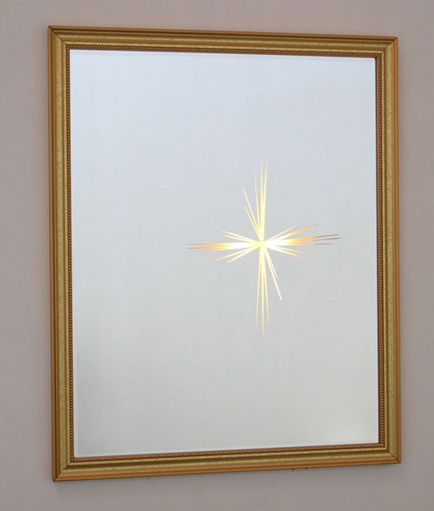 Untitled (Lens Flare, Large Mirror), 2007, mirror, frame, lights, 26 x 32 x 2 inches / 66 x 81 x 5 cm<