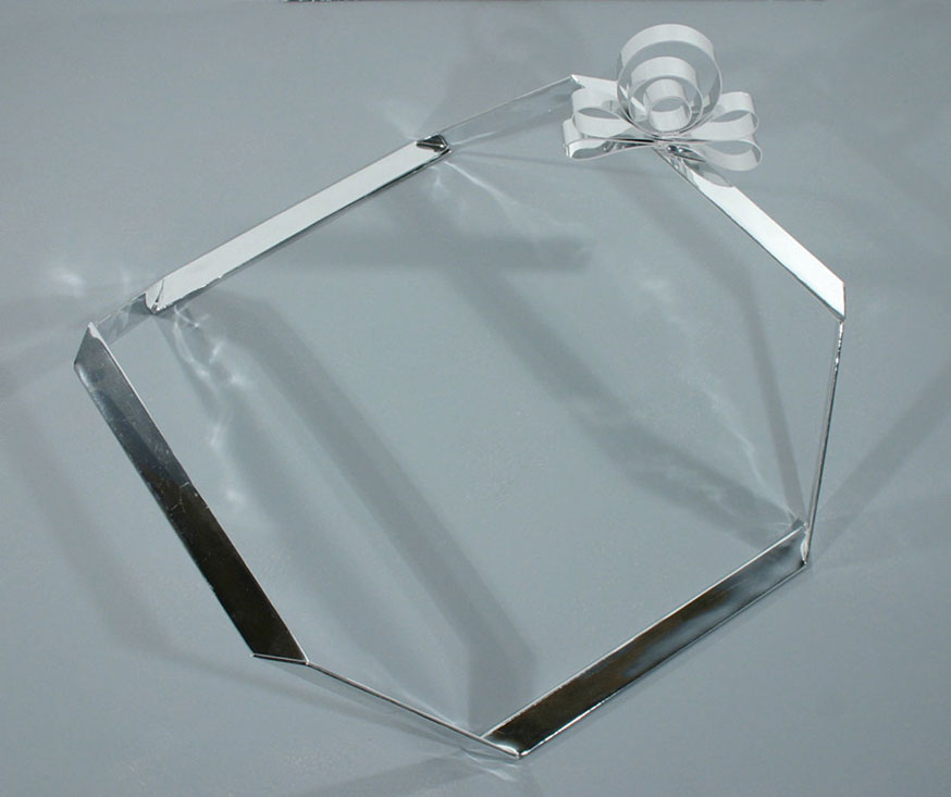 Chrome Present, 2007, balsa wood and paper, 9 x 21 x 20 inches 		  / 23 x 53 x 51 cm