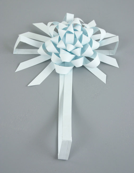 Light Blue Present, 2007, paper, 4 x 10 x 16 inches / 10 x 25 		  x 40 cm