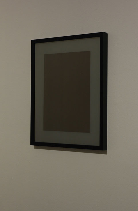 Two-Way Window, 2009, acrylic, paper, matboard, frame, 16           x 20 inches, 41 x 51 cm