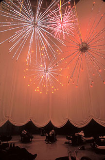 Cai Guo-Qiang, Fireworks from Heaven, 2001; mixed media; dimensions variable; detail of installation view, Yokohama Triennale, 2001; photo: Masatoshi Tatsumi.