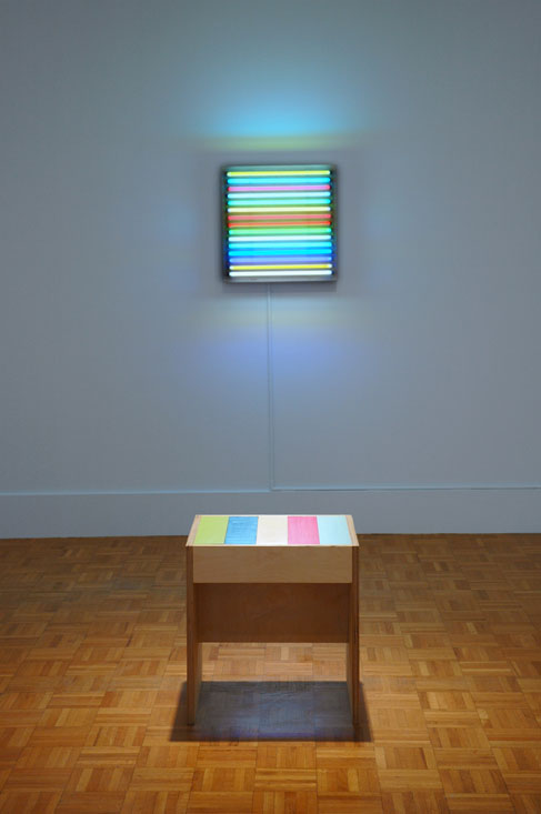 Leah Rosenberg, Striped Stool and Illuminated Stripes I