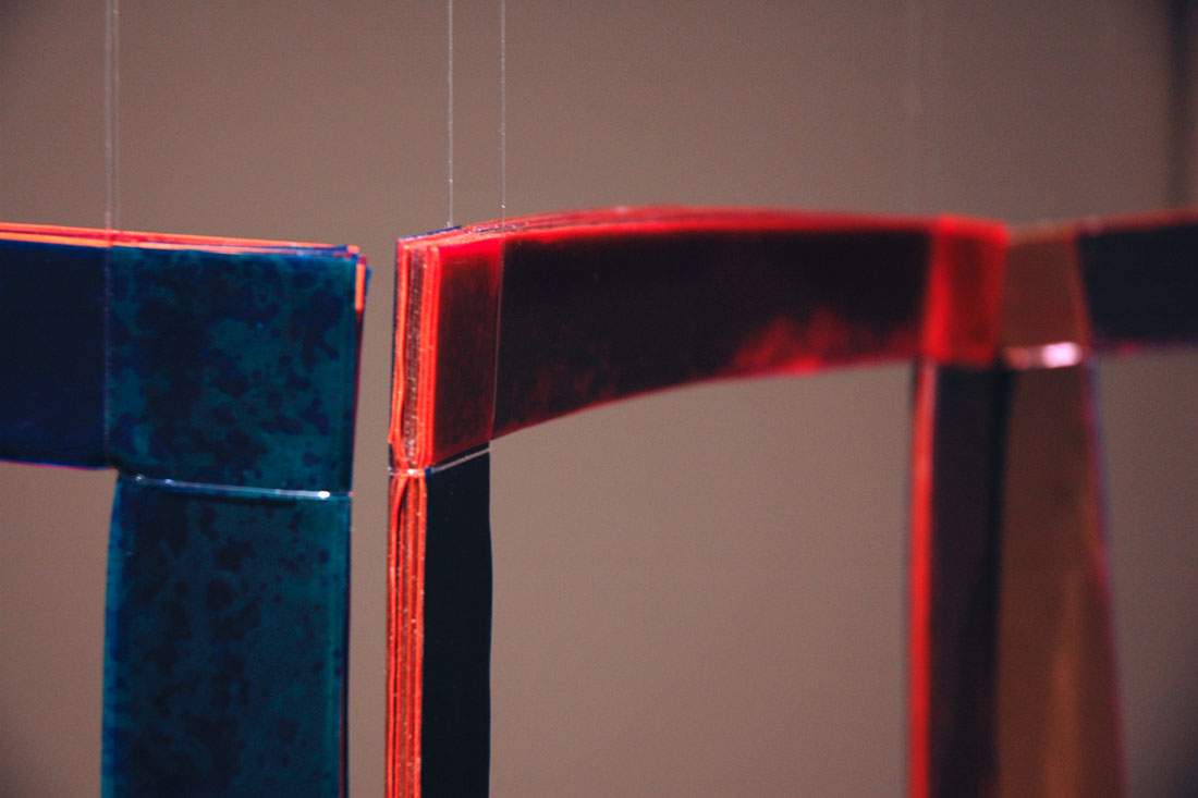 Folding Screen, 2014, vinyl, 54 x 37 x 7 inches / 137 x 94 x 18 cm