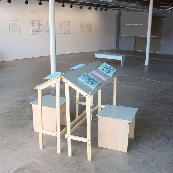 all the steps in the process, installation view