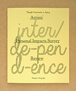 interdependence zine cover: thought experiments in agency. artists' personal impacts survey review. christine wong yap.