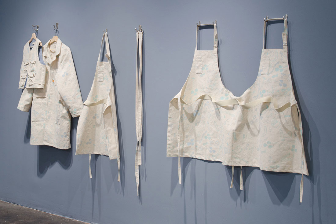 garments, installation view