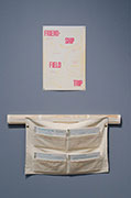Elizabeth Travelslight and Christine Wong Yap, <em>Friendship Field Trip</em>, three-color letterpress print. Top: map/poster on the reverse side of activities. Bottom: Activity in four parts on takeaway pads in printed and sewn canvas pouch, 6 x 9 inches / 15.2 x 22.8 inches each (prints).