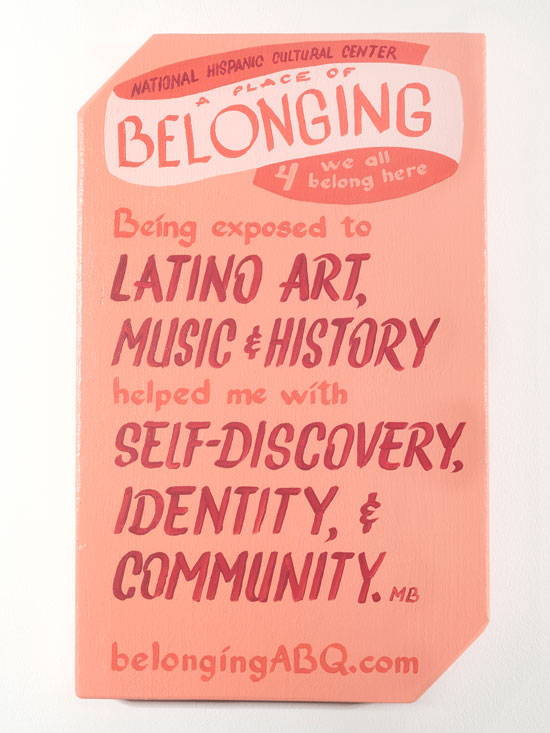 A Place of Belonging ##4: National Hispanic Cultural Center. Being exposed to Latino art, music and history helped me with self-discovery, identity and community. MB.  we all belong here. BelongingABQ.com