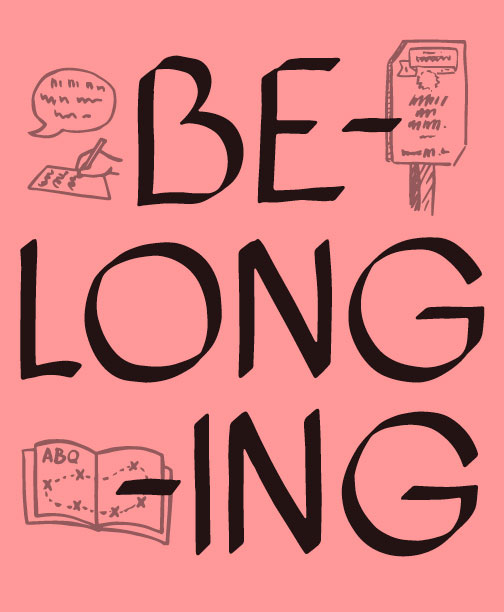 BE LONG ING zine cover