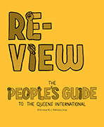 cover of the zine #3 called re-view