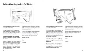 spread from zine #3, two views on cullen washington junior's od matter artwork